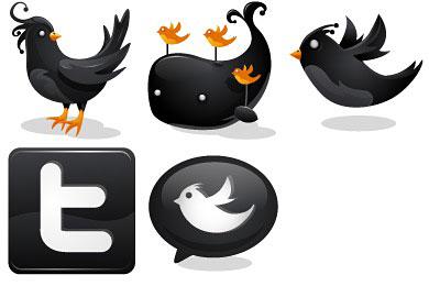 Скачать Black Twitter Icons