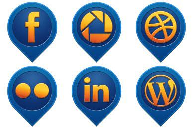 Скачать Media Pin Social Icons