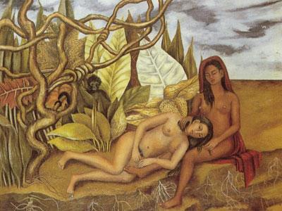 Две обнаженные в лесу
