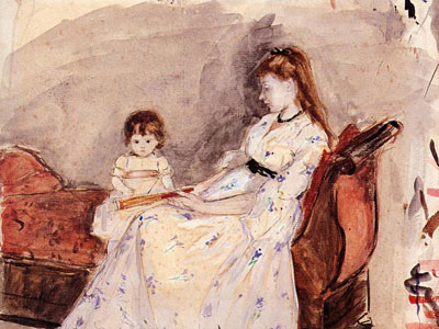 The Artist S Sister Edma With Her Daughter Jeanne