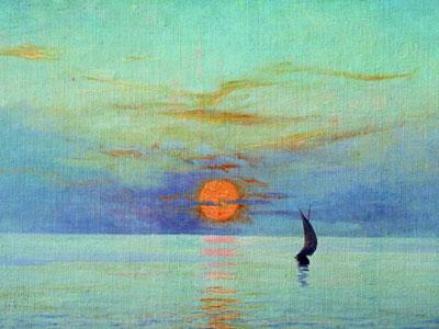 Закат солнца над морем