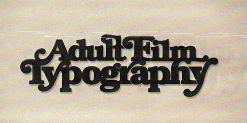 Перейти на Adult Film Typography