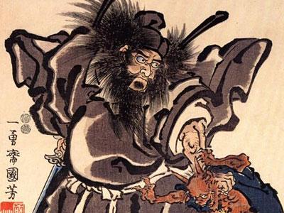 Shoki And Demon Edo Period