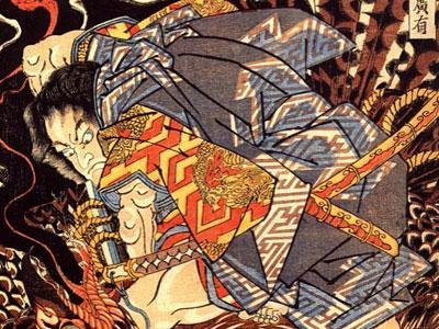 Oki No Jiro Hiroari Killing A Monstrous Tengu