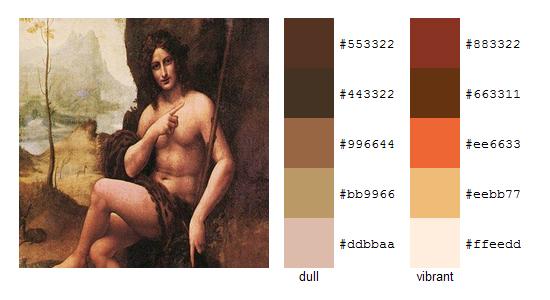 Палитра цветов с картин Леонардо да Винчи 11