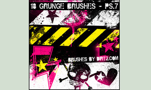 Скачать Grunge Shapes Ps 7.0 Brushes