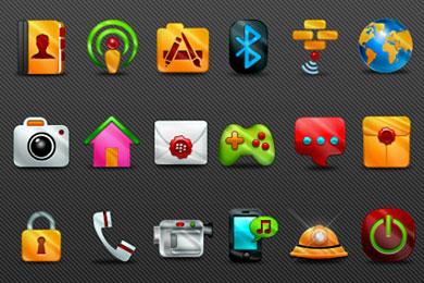 Скачать Gleam Blackberry Icons