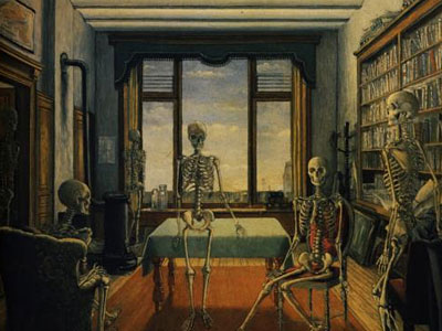 Skeletons In An Office