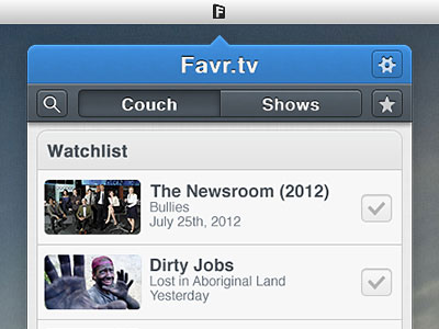 Перейти на Favr tv Menu Bar App