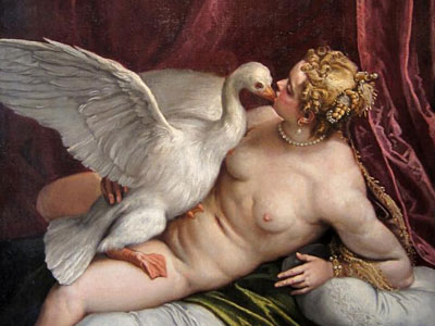 Leda And The Swan In The Palace Of Fesch Ajaccio