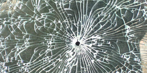 Скачать Broken Glass With Hole Texture