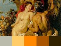 20 готовых цветовых палитр с насыщенных картин Рубенса