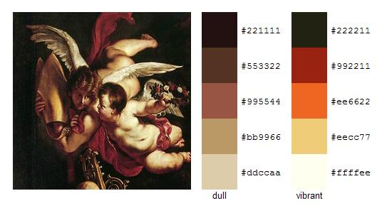 Палитра цветов с картин Рубенса 9