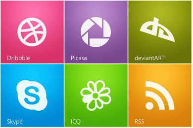 Скачать Metro Style Social Icons