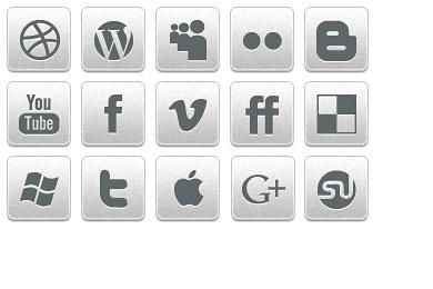 Скачать Black White Social Icons