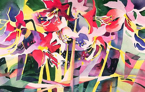 Теплые цвета и размытые контуры в работах Chris Keylock Williams