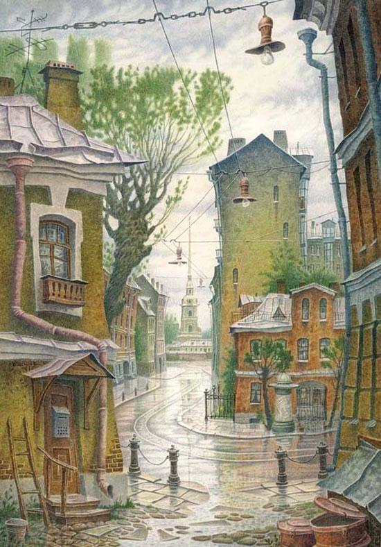 Питерские городские мотивы в творчестве Владимира Колбасова