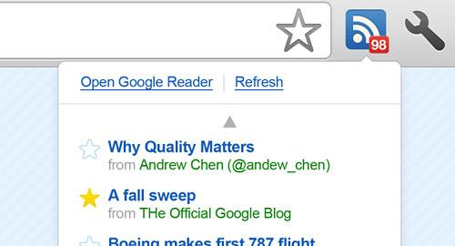 Перейти на Google Reader Notifier