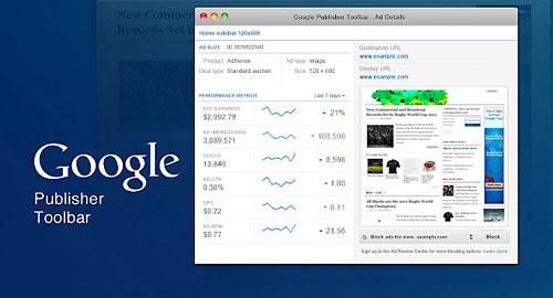 Перейти на Google Publisher Toolbar