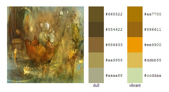 Палитра цветов с картин Smokepaint 13