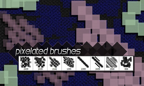 Скачать 8 Free Hi Res Pixelated Photoshop Brushes