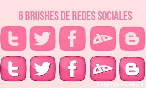 Скачать Brushes Redes Sociales