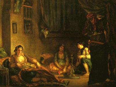 Алжирские женщины в своих комнатах