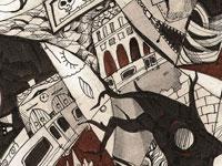 Абсент, мрачные тени, рыбаки и другие прикольные иллюстрации