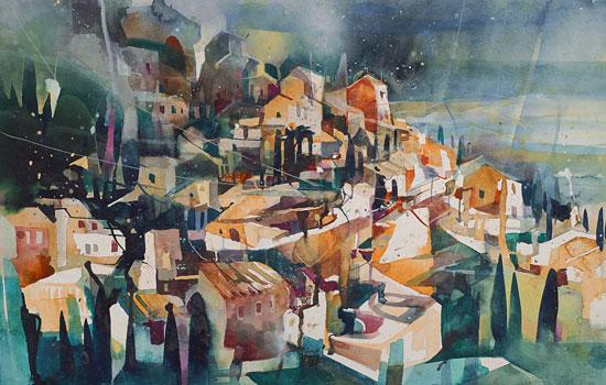 Абстрактные линии городских районов от художника Bernhard Vogel
