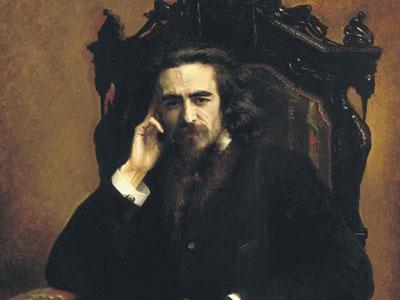 Portarait of philosopher Vladimir Solovyov, 1885