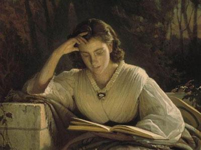 За чтением, 1863