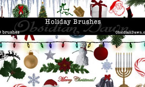 Скачать Holiday Brushes