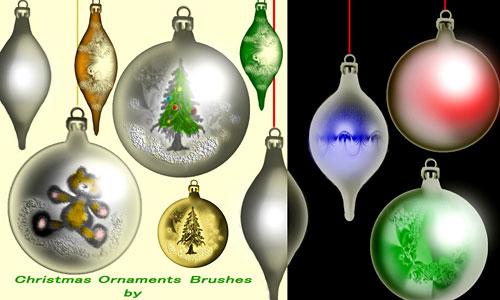 Скачать Christmas Ornaments Brushes