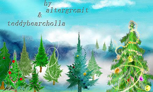 Скачать Christmas Trees Brushes