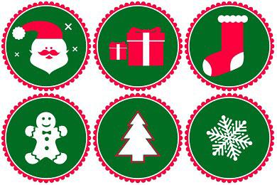 Скачать Vector Christmas Icons