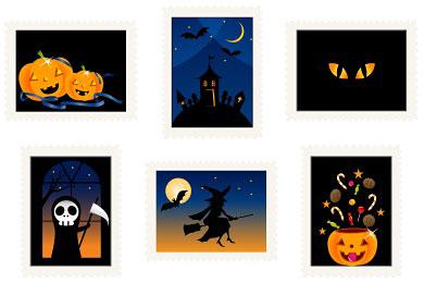 Скачать Halloween Stamps