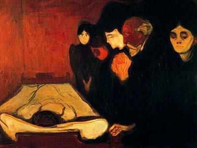 У смертного одра, 1893