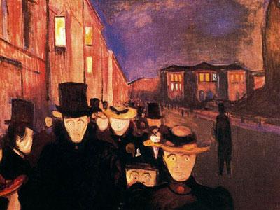Вечер на улице Карла Иоанна, 1892