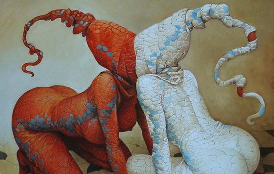 Неординарный стиль и фантазия иллюстратора Andrius Kovelinas