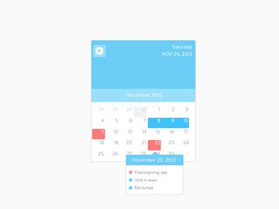 Перейти на Calendar