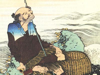 Old Fisherman Smoking His Pipe