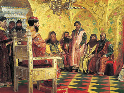 Царь Михаил Федорович и бояре