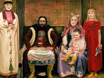 Семья купца в ХVII веке