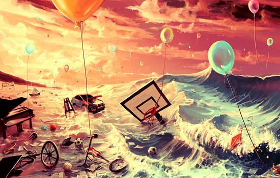 Сюрреализм, абсурд и взрывной креатив от иллюстратора AquaSixio