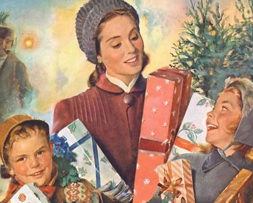 Рождественская винтажная реклама