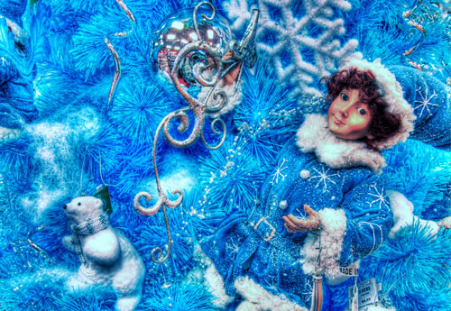 Blue Fairy Christmas Tree