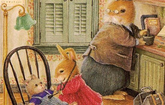 Милые кролики в рождественской сказке от художницы Susan Wheeler