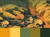 20 готовых цветовых палитр с картин художника Кацусика Хокусай
