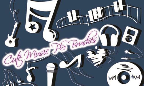 Скачать Cute Music Brushes
