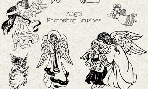 Скачать Ps Brushes Angels